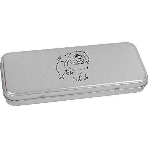 Hund Hund Chow-chow Essen (180mm x 75mm 'Chow Chow Hund' Blechdose / Aufbewahrungsbox (TT00070225))