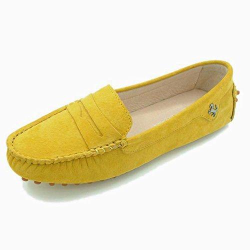 Minitoo, Punta chiusa donna Yellow-Nubuck Leather
