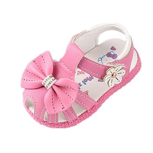 Auxma Weiche Sandalen für Baby Mädchen,rutschfeste Kleinkind Sommer Krippe Schuhe für 0-24 Monate (19 EU, YY) -