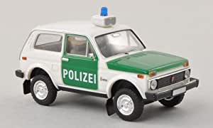 Lada Niva, Polizei , voiture miniature, Miniature déjà montée, Brekina 1:87