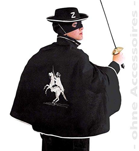 Partychic Kinder-Kostüm Zorro-Cape mit Aufdruck, 1-TLG, Gr. 128