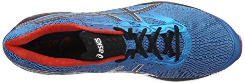 Asics Cumulus 18, Chaussures de Running Entrainement Homme Multicolore (Island Blue / Black / Vermilion)