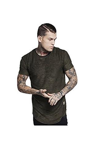 Sik Silk T-Shirt Homme, Gris - 11056
