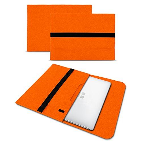 UC-Express Sleeve Hülle Odys Trendbook 14 Pro Tasche Filz Notebook Cover 14' Laptop Schutz Case, Farbe:Orange