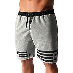 Longra 2018 Hot Sale Men's Flag Stars Sporting Beaching culturismo pantalones cortos Jogger corto gimnasios cortos Pantalones de chándal Pantalones