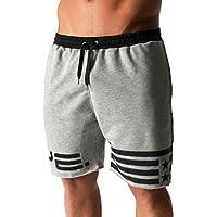 Longra 2018 Hot Sale Mens Flag Stars Sporting Beaching culturismo pantalones cortos Jogger corto gimnasios cortos