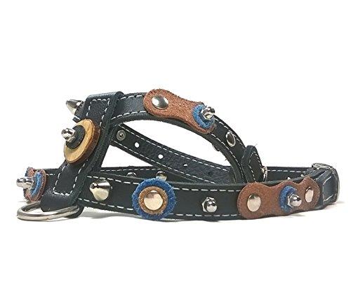 Superpipapo Hundegeschirr für Mittelgroße Hunde   Cooles Brustgeschirr mit Nieten und Holz...