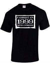 T-Shirt Anniversaire Homme 18 Ans Fabriqué En 1999 Pièces d'Origine