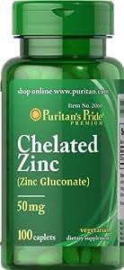 Chelated Zinc 50 mg 100 Capsules