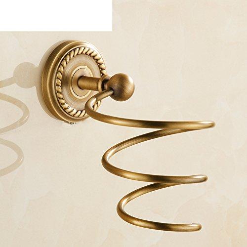 Porte-Sèche-Cheveux,Porte-séchoir,antique grille de séchage cheveux Sèche cheveux mural-style Porte de salle de bain Sèche-linge Support de rangement