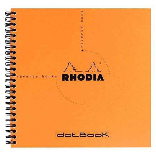 Libreta Rhodia Reverse Book, de anillas, a cuadros, 21 x 21 cm, 80 hojas, color...