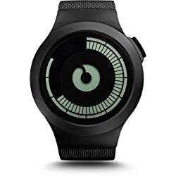 Ziiiro Saturn Black Design Digital Uhr Herrenuhr