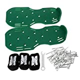 lailongp A Pair Lawn Aerator Shoes Sandals Grass Spikes Nail Cultivator, Yard Garden Tool