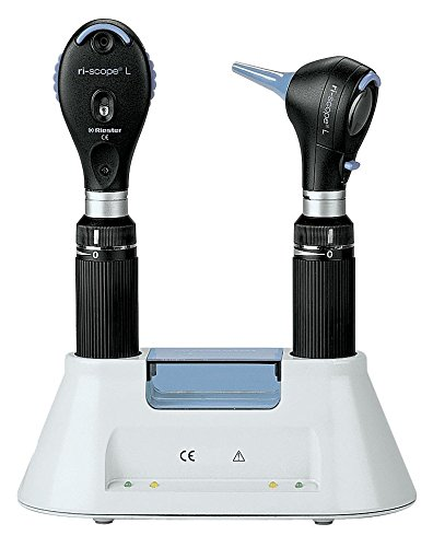 Riester L3Advanced LED de fibra óptica otoscopio y Oftalmoscopio para escritorio