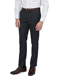 DKNY Slim Fit Kohlengrau Pindot Anzug Hose