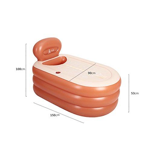 Bathtub PHTW HTZ Badewanne PVC-Badfass Haushalt Kunststoff Badewanne Mit Deckel Faltbare Aufblasbare Badewanne Für Erwachsene Kind Leicht Zu Tragen A+ (Farbe : A, größe : 140CM)