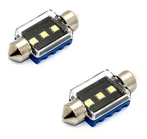 2x CANBUS LAMPEN SOFFITTE 36MM 3x3535-chip 3W 12V XENON KALTWEIß 2 STÜCK Innen- Kennzeichen- Einstiegs- Kofferraum- Fussraumbeleuchtung