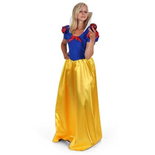 Schneewittchen Märchen Kostüm Kleid für Karneval und Fasching sehr elegant - (Für Schneewittchen Erwachsene Kostüme)