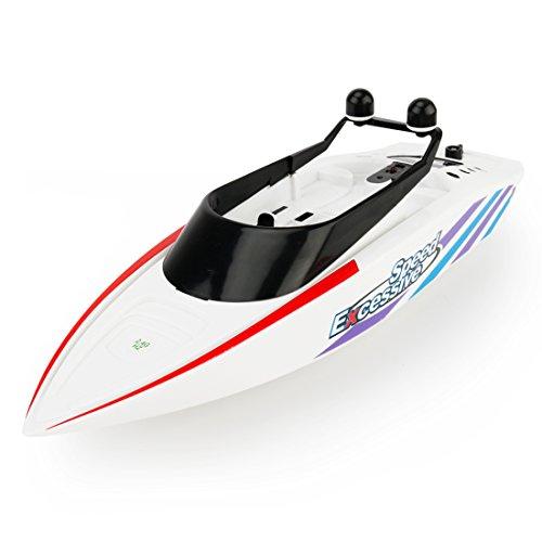 Likeluk Fernbedienung Speedboat RC High Speed Boat Spielzeug Kinder Elektrische Wasser Racing Boot, Orange
