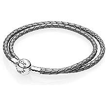 9d12ccdd8f21 Pandora Pulsera cuerda Mujer plata - 590745CSG-D1