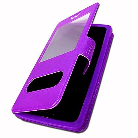 HAIER L32 Etui Housse Coque Folio violet pour by Ph26®