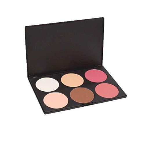 PhantomSky 6 Colores Cara Polvos Prensados Camuflaje Paleta de Maquillaje Cosmética #2 - Perfecto para Uso Profesional y Diario