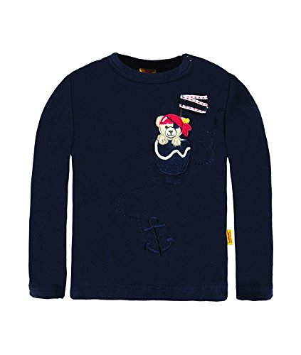 Steiff Collection Jungen, Hemd, T-Shirt 1/1 Arm, Blau (marine 3032), 80