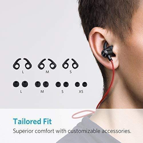Anker SoundBuds Slim Bluetooth Kopfhörer Kabellos und Magnetverschluss, Wasserfest Sport Headset mit Mikrofon für iPhone, iPad, Samsung, Nexus, HTC und mehr(Rot) - 3