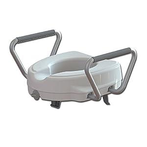GIMA ES-11-12-11 Toilettensitzerhöhung mit fester Armlehne, Höhe 12,5 cm