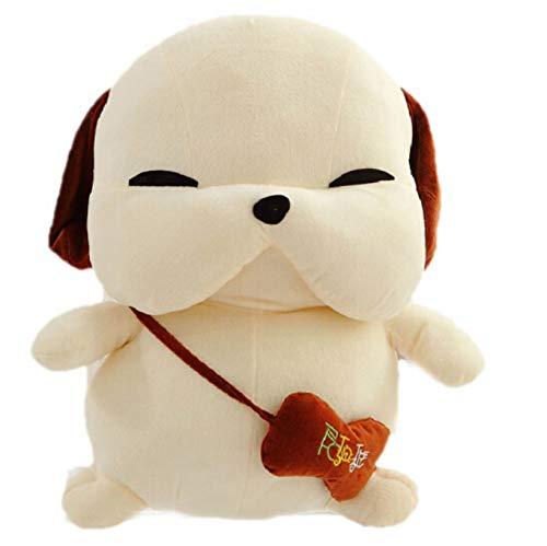 NOWPST Plüsch Streunender Hund Gefüllte Weiche Tiere Puppe Plüschtier Kissen Junge Geschenke Höhe 40 cm Beige - Beige Crock