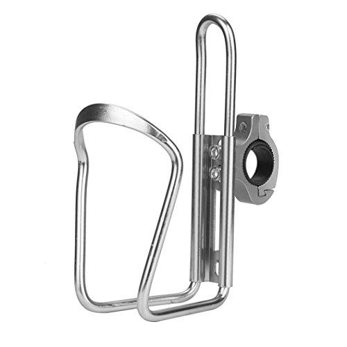 Gaddrt leicht, wasser Flasche Käfig Halter Cage Rack, Aluminium-Lenker-Halterung, silber