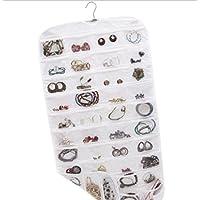 GYMNLJY Detriti Storage Bag 80 tasche bifacciale deposito di PVC trasparente appeso gioielli sacchetto sacchetto appeso gioielli (confezione da 2) , 1