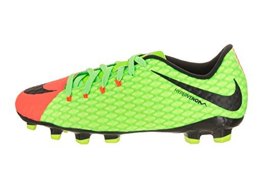 Nike Jr. Hypervenomx Phelon 3 Fg, Chaussures de Football Mixte Enfant Vert (Elctrc Green/blk/hypr Orng/vlt)