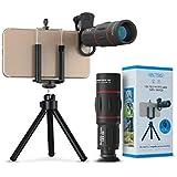 كاميرا تلسكوب بعدسة تقريبية 18X من أبكسيل شاملة للهاتف المحمول عدسة تكبير لهاتف آيفون X/8 7 Plus/6S Samsung Galaxy S8 S7 Huaw