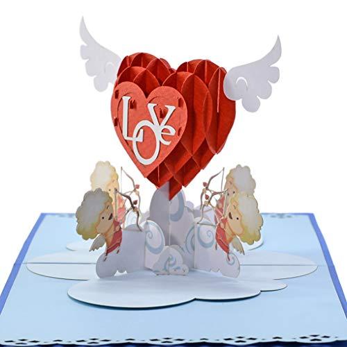 Cutpop, biglietto di auguri pop-up 3d a forma di cupido, con dettagli perfetti, pieno di amore e felicità, ottima scelta per amanti, famiglia, marito o moglie, per san valentino, matrimonio