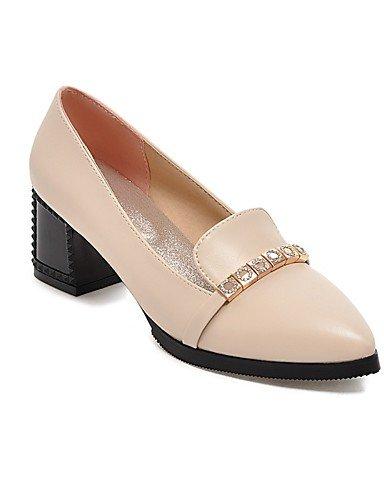 WSS 2016 Chaussures Femme-Bureau & Travail / Décontracté-Noir / Rouge / Beige-Gros Talon-Talons / Bout Pointu-Chaussures à Talons-Polyuréthane red-us6.5-7 / eu37 / uk4.5-5 / cn37