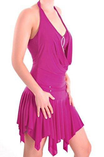 EyeCatch TM - Kristen aufreizendes Abendkleid Neckholder Kleid Magenta