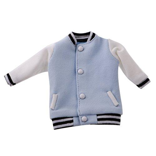 MagiDeal Puppe Beiläufige Baseball Kleidungs Uniform Für 12 Inch Blythe blau