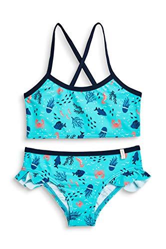 ESPRIT Mädchen Badebekleidungsset Underwater Beach MG Bustier + Brief Blau (Turquoise 470) 116 (Herstellergröße: 116/122)