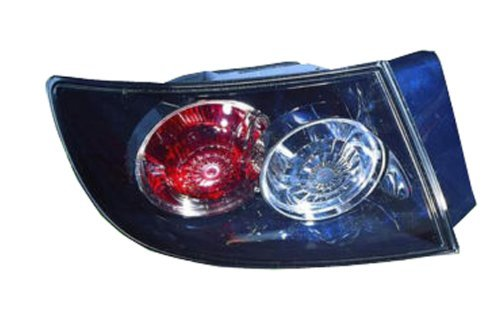 Mazda 3 Sedan Replacement Tail Light Assembly (Standard Type, Outer) - Driver Side by