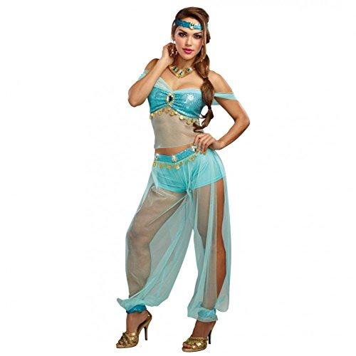 Kostüm Dreamgirls - Dreamgirl Kostüm Harems Prinzessin, Gr. M,Top Haremshose türkis Orient 1001 Nacht