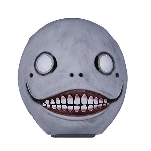Game NieR: Automata Emil Cosplay Masken Helm Vollkopf Latex 1: 1 Lustige Requisiten Party Halloween Fancy Ball (Das Ist Batman-bösewichte, Halloween)