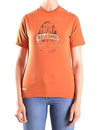 Belstaff Mujer MCBI039015O Naranja Algodon T-Shirt