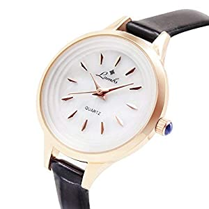 Ladies Watches Sale Clearance,Girls Fashion Watches Sale Clearance,Ladies Classic Waterproof Quartz Wrist Watches with Leather Strap, White Dial Analogue Display Easy to Read Times (black01)