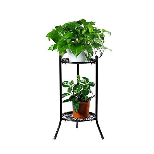 Sincey porta vaso di fiori–espositore per a fiori in ferro battuto multistrato balcone interno semplice vassoio di vaso di fiore di orchidea verde salvia verde nero