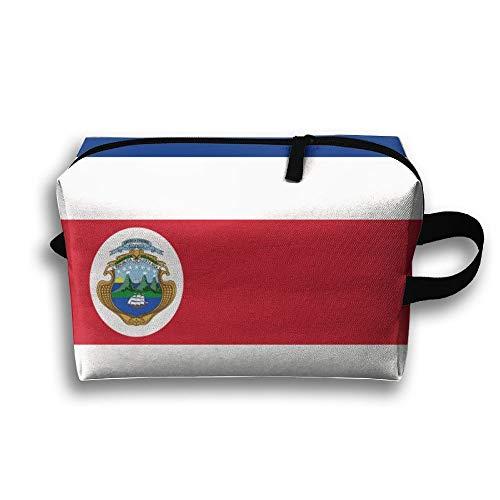 Flagge von Costa Rica Tragbare Kulturbeutel Kosmetiktasche Wasserdichte Reißverschluss-Aufbewahrungstasche