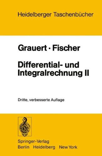 Differential- und Integralrechnung II: Differentialrechnung in mehreren Veränderlichen Differentialgleichungen (Heidelberger Taschenbücher, Band 36)