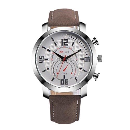 KanLin 1986 Di modo degli uomini di lusso della vigilanza simulata quarzo orologio sportivo (Brown)