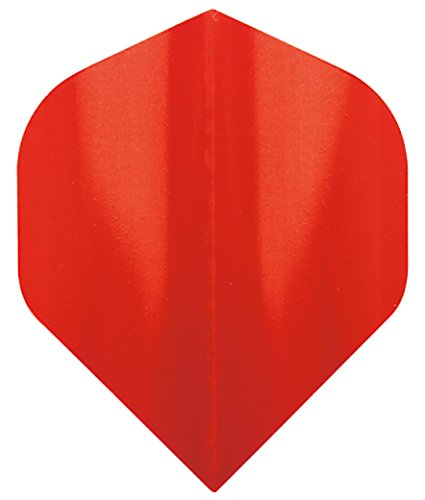 Red irisierend Standard Dart Flights 4 Sets pro Pack (12 Flights insgesamt) + Red Dragon Checkout Card