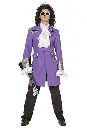 Herren-Kostüm Purple Prince Deluxe Rain Mantel Hemd Jacke Topqualität Karneval, (Kostüme Halloween Rain Purple)